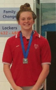 Amy in the medals at scottish summer meet bishop 39 s stortford swimming club for Swimming pools in bishops stortford